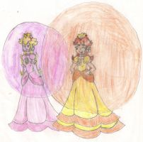 Peach and Daisy-Bubble Contest by LilacPhoenix