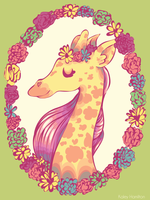 Pretty Giraffe 2 by MaryAQuiteContrary