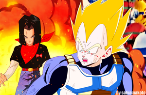un future diferente ...17 vs vegeta by salvamakoto