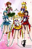 Eternal Inner Senshi by CartoonPrincess15