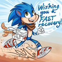Gotta heal fast! [my gift from Sharkie19] by chibiirose