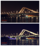 Earth Hour: Shk. Zayed Bridge by shaiful12