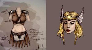 Design for Valkyrie Costume by tree27