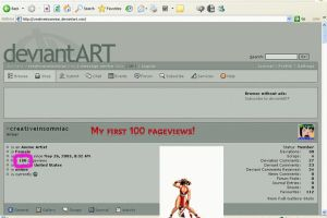 Thanks for 100 hits by creativeinsomniac