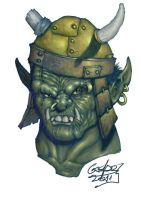 Orc face by gasparsabater