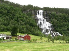 Norwegian Waterfall by Veghead99