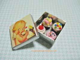 Miniature Assorted Cupcakes Box by ilovelittlethings
