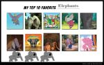 KL's Top 10 Favorite Elephants by KessieLou