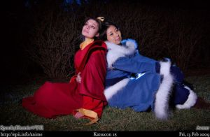 Fire Lady Ursa and Kya Avatar by neoqueenhoneybee