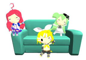 MMD- Couch DL by Shioku-990
