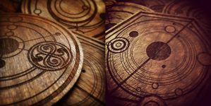 Doctor Who: Gallifreyan Coasters by willbrooks