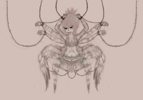 Spider Unfinished Sketch by TheFatFlyingSquid