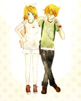 Entry: Rin and Len Kagamine Contest by KisaSwan