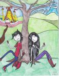 Marshall Lee and Marceline by Camila-Andromeda