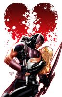 Hawkeye and Mockingbird 6 by PaulRenaud