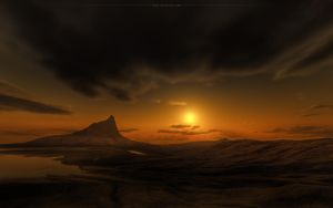 sunset at the neadle by magann