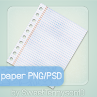 Notebook Paper PNG-PSD by SweetTennyson1D