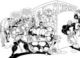 NABKO - MUSCLE RANMA 1/2 TRIPLE PAGE Commission 1 by Manthomex