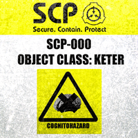 SCP-000 containment label by DROP-THERAPY