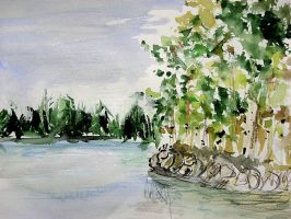 Finland with thousends lakes by OrenjiAmaterasu