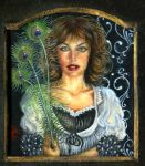 Stolen Feathers - portrait miniature 2'x3 in. by NCEART