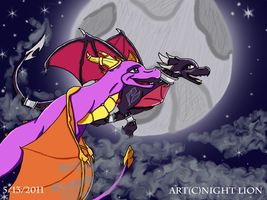 AT:Spyro and Cynder by Night-Lion