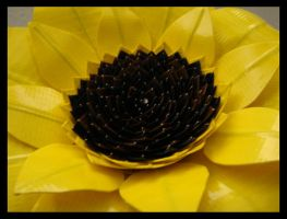 Duct Tape Sunflower CloseUp by DuckTapeBandit
