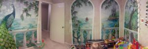 Panoramic Shot of Completed Mural by MulchMedia