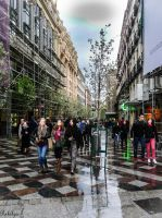 Looking for a dry spot in Madrid by Rikitza