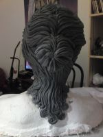 weeping angel sculpture back by made-me-a-monster