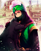 APH: 2P Ottoman Empire and black wolf by Kagome-Inuyashkina