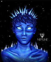 Personified Planets: Neptune by CosmosKitty