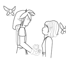 Heart Container- Lineart by AngelAndChangeling