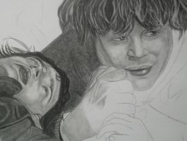 Frodo and Sam WIP by M3ganK