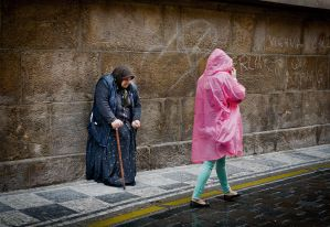 Women in Rain by sandas04