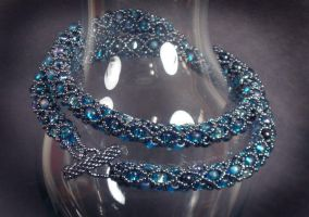 Jewelled Rope in Blues by jardan