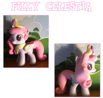 Filly Celestia Custom by Scaramouche-Fandango