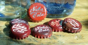 Nuka Cola bottle caps by frazerus