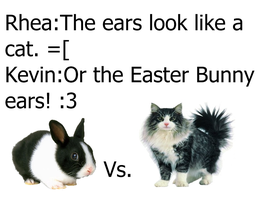 Easter Bunny Vs. Cat by Rawr-Music