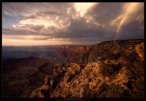 Summer Storm - Grand Canyon by Rhavethstine