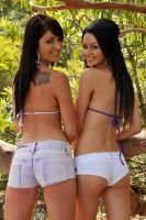 Justine and Tara - backs 1 by wildplaces