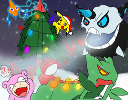 A Very Merry Pokemon Christmas by Rotommowtom