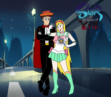 Sailor Star and Tuxedo Marco by Trevor911