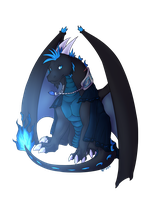 Big Old Blueberry Dragon by SpytDragonFyre
