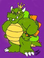 King Koopa Colored 2 by Beau-Skunk