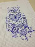 heart-shaped owl by life-of-luxury