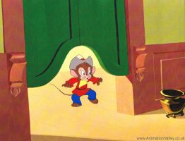 An American Tail Production cel featuring Fievel by AnimationValley