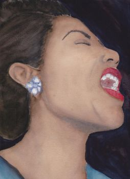 Billie Holiday by ScreamAndSugarArt