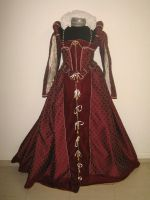 Red Court Gown Front by Sianw