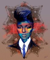 Portrait of Janelle Monae by PetitChestnut